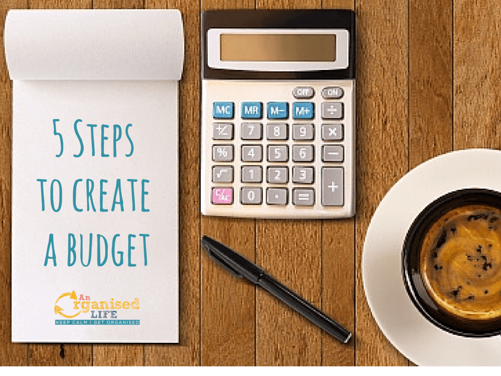 5 Steps to create a budget