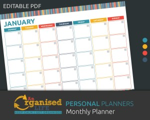 editable monthly planner