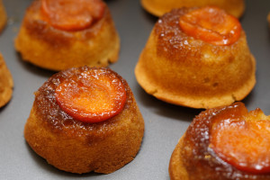 apricot upside-down muffins