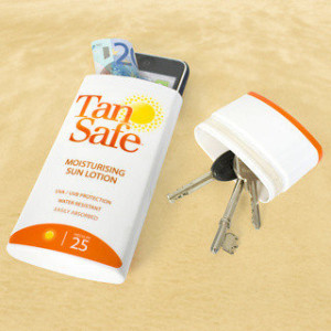 reuse sunscreen container for storage