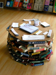 home made book table