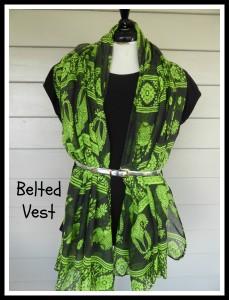 P Belted Vest