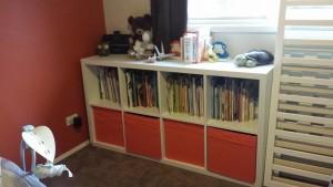 Kids books and toy boxes (Ikea Besta/Kallax)