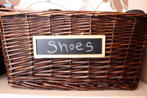 shoe basket storage