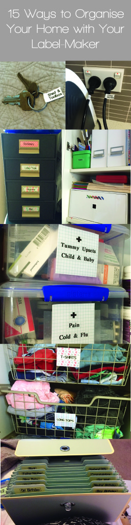 15 ways to organise your home with your labelmaker