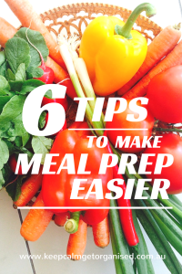 6 tips to make meal preparation easier