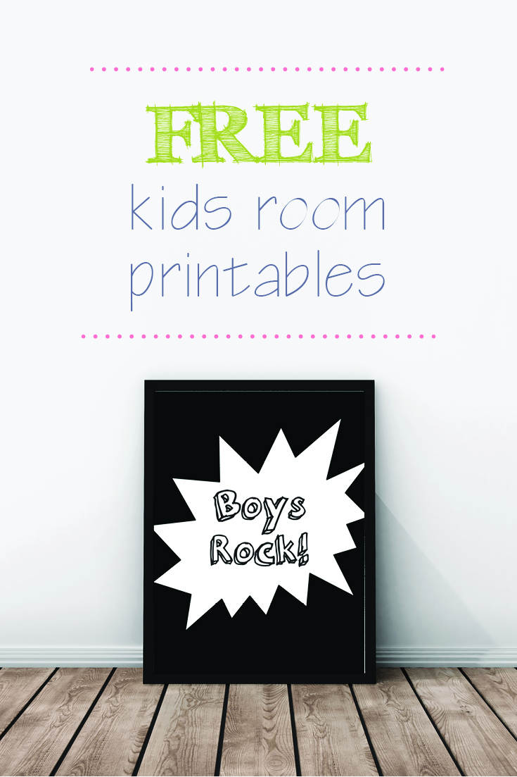 free printables for children free room wall prints 737