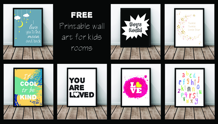 Free kids room wall prints