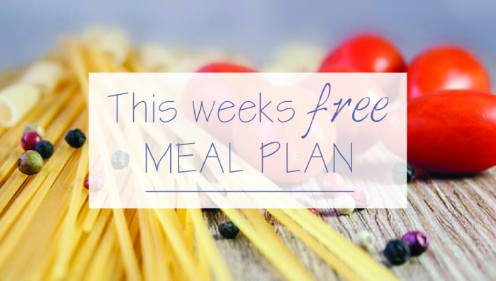 This weeks free meal plan