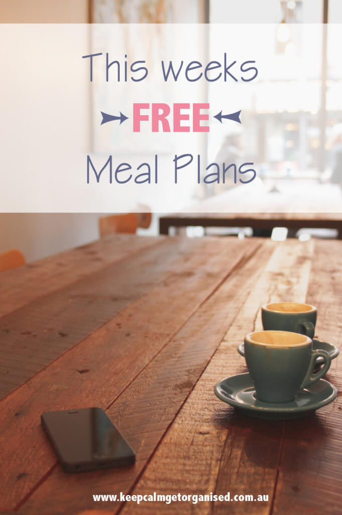 This weeks free meal plans 10th may