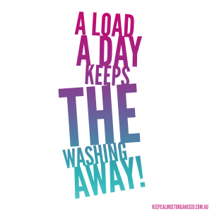 a load a day keeps the washing away