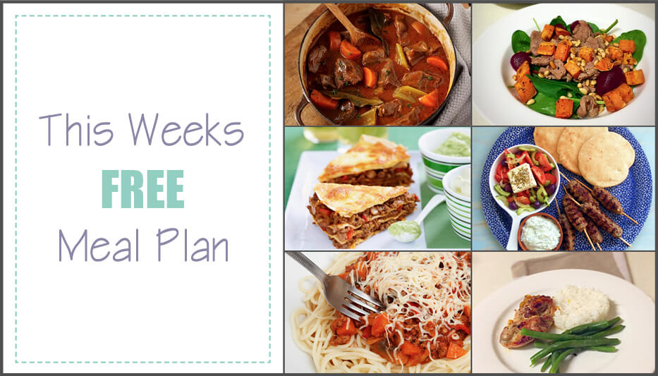 Free weekly meal plan: 16th May