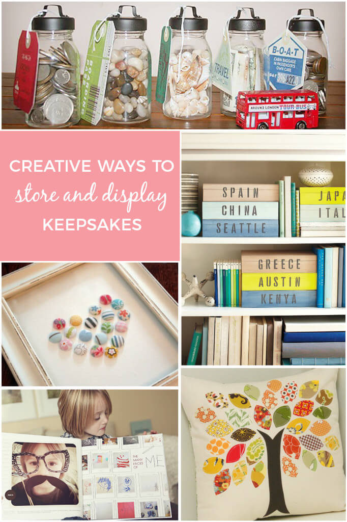 Creative ways to store and display keepsakes