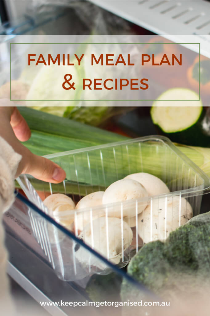 Family meal plan and recipes