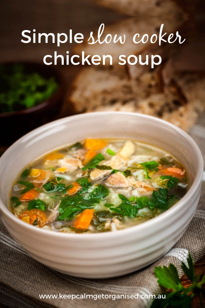 Simple slow cooker chicken soup