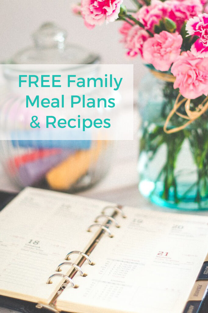 This weeks FREE meal plan and recipes.