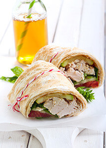 Consider alternatives to bread such as tortillas or bagels.