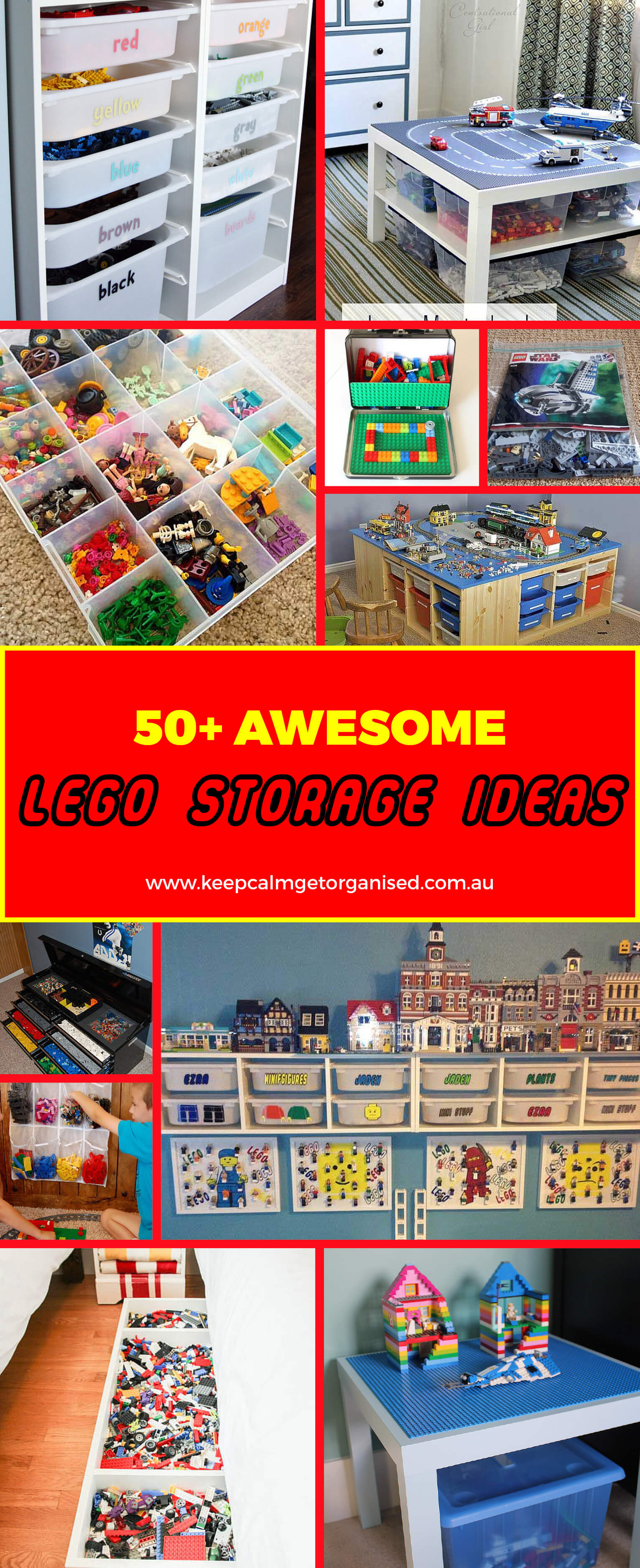 50+ Awesome Lego storage ideas for clever Lego organisation