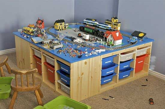 Lego Storage Ideas - Table Tubs unit