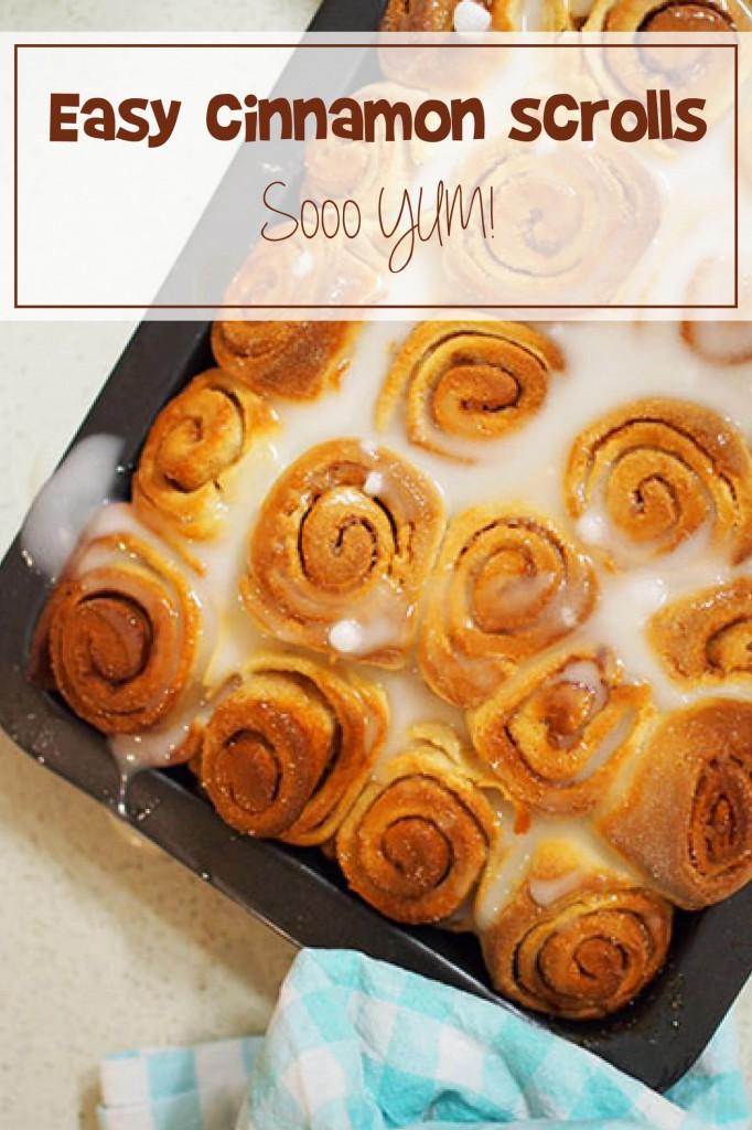 Easy, delicious cinnamon scrolls recipe. YUM!!   Find it at keepcalmgetorganised.com.au/cinnamon-scrolls-recipe/
