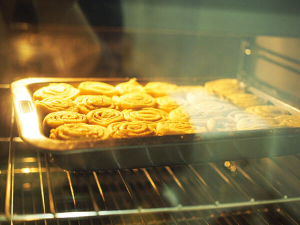 baking cinnamon scrolls