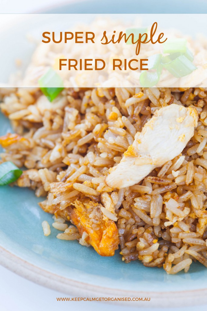 Super simple fried rice recipe.