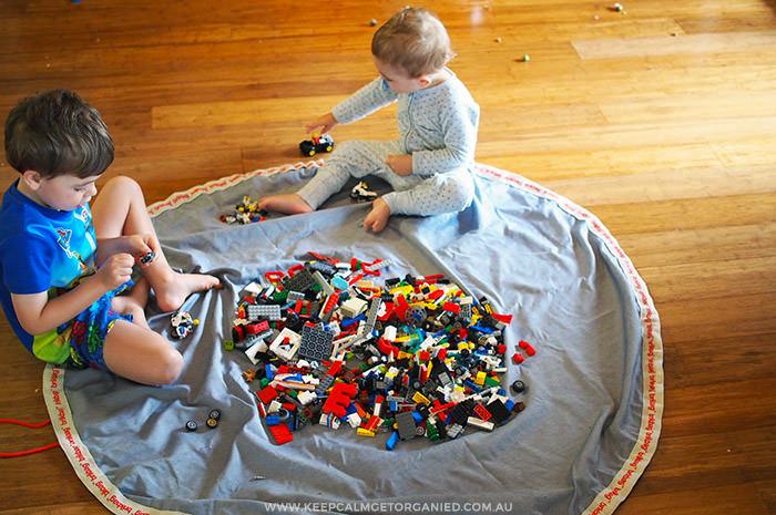 Lego storage mat brikbag
