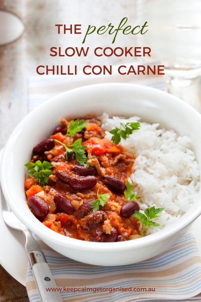 slow cooker chilli con carne recipe