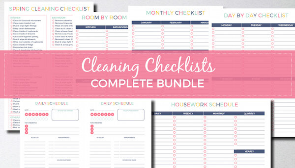 The ultimate cleaning checklist bundle (with bonus daily planner). Keep your home clean and organised!