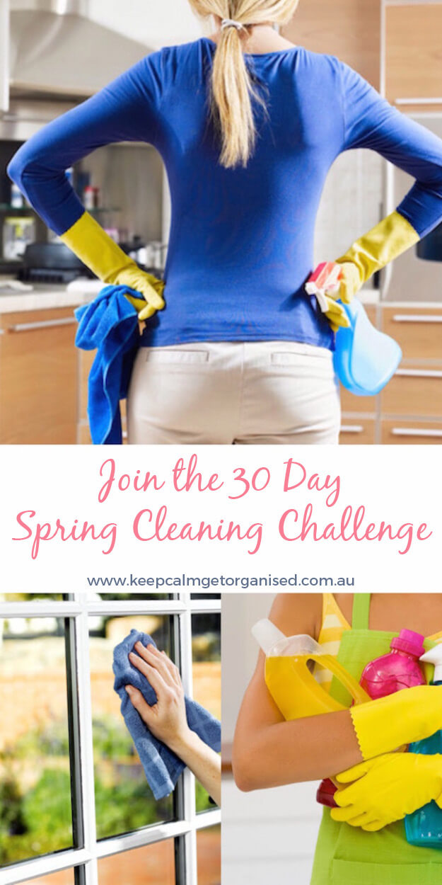 join the 30 day spring cleaning challenge