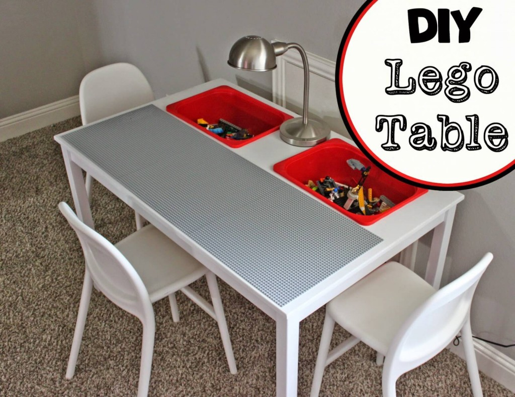 This clever Lego table with built in storage boxes is from A little of ...
