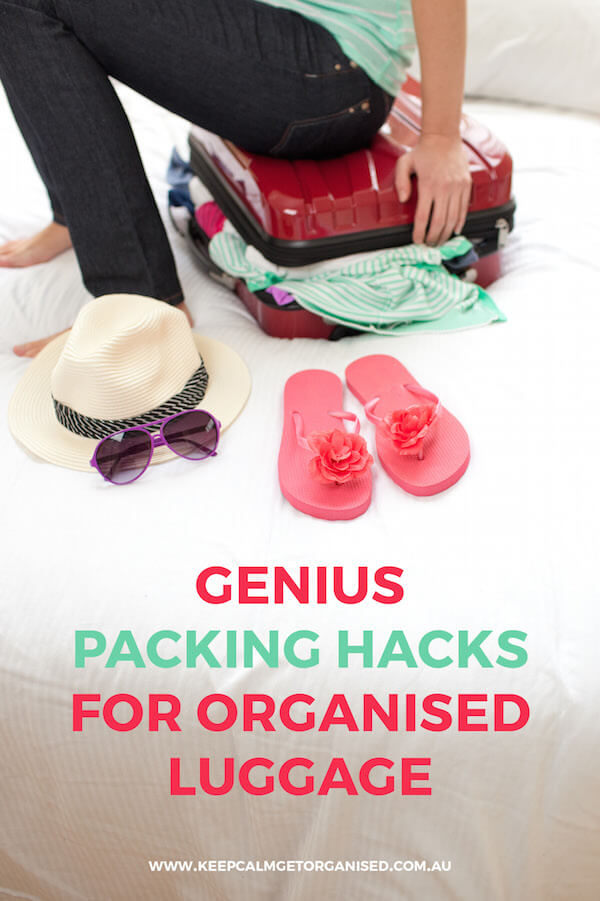packing hacks for organised luggage