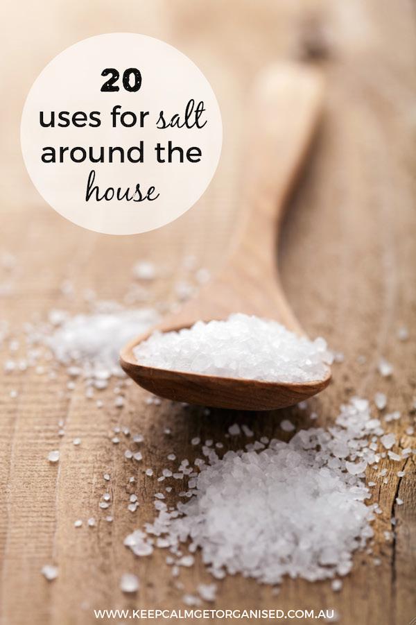 20 uses for salt around the house