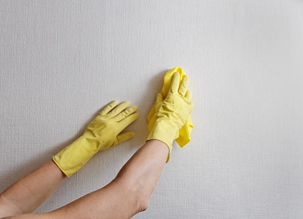 cleaning walls in house