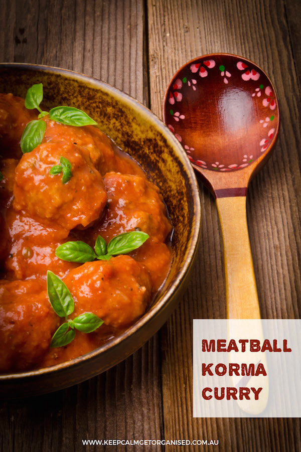meatball korma curry recipe