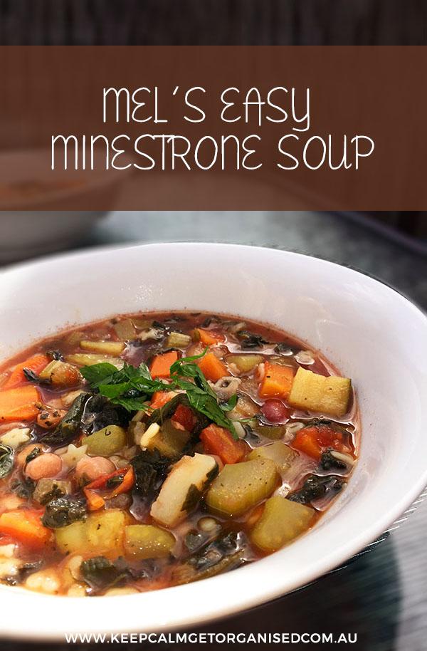 mel's easy minsestrone soup