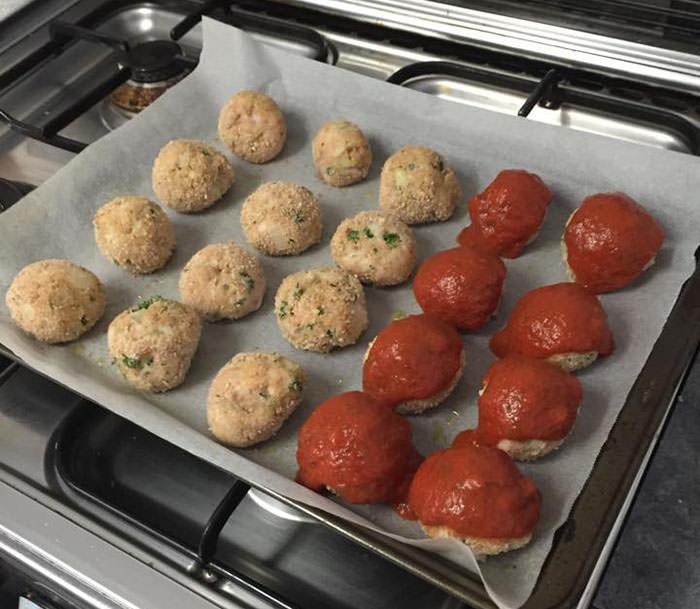 chicken schnitzel meatballs