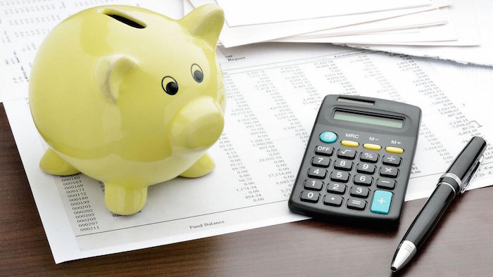money makeover pig with calculator