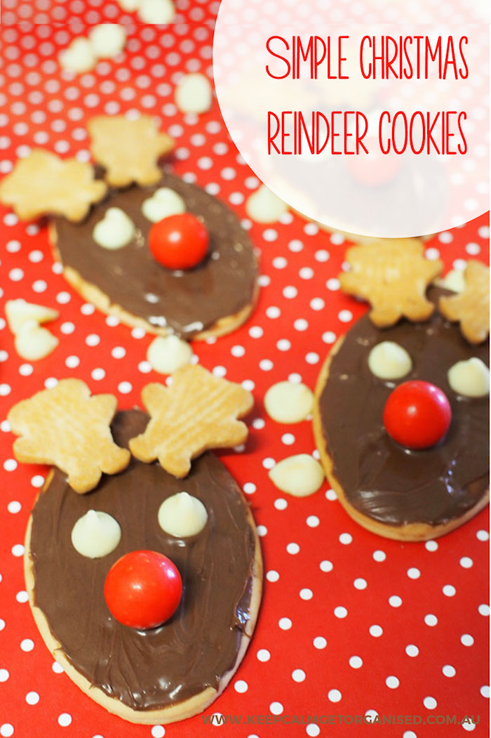 simple christmas reindeer cookies