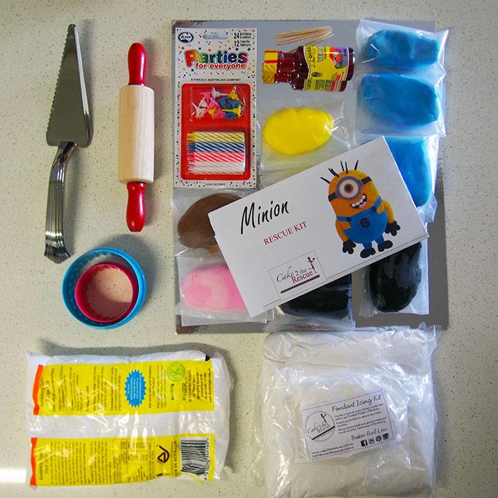 cake 2 the rescue minion cake kit