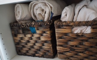 How to organise a small linen cupboard