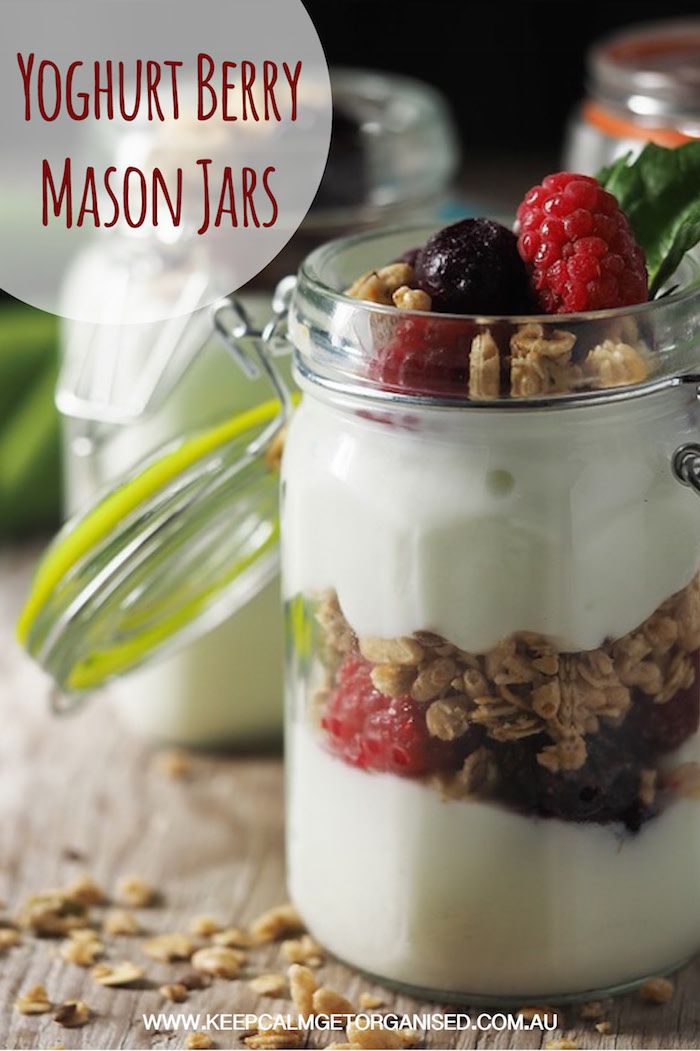 yoghurt berry mason jars