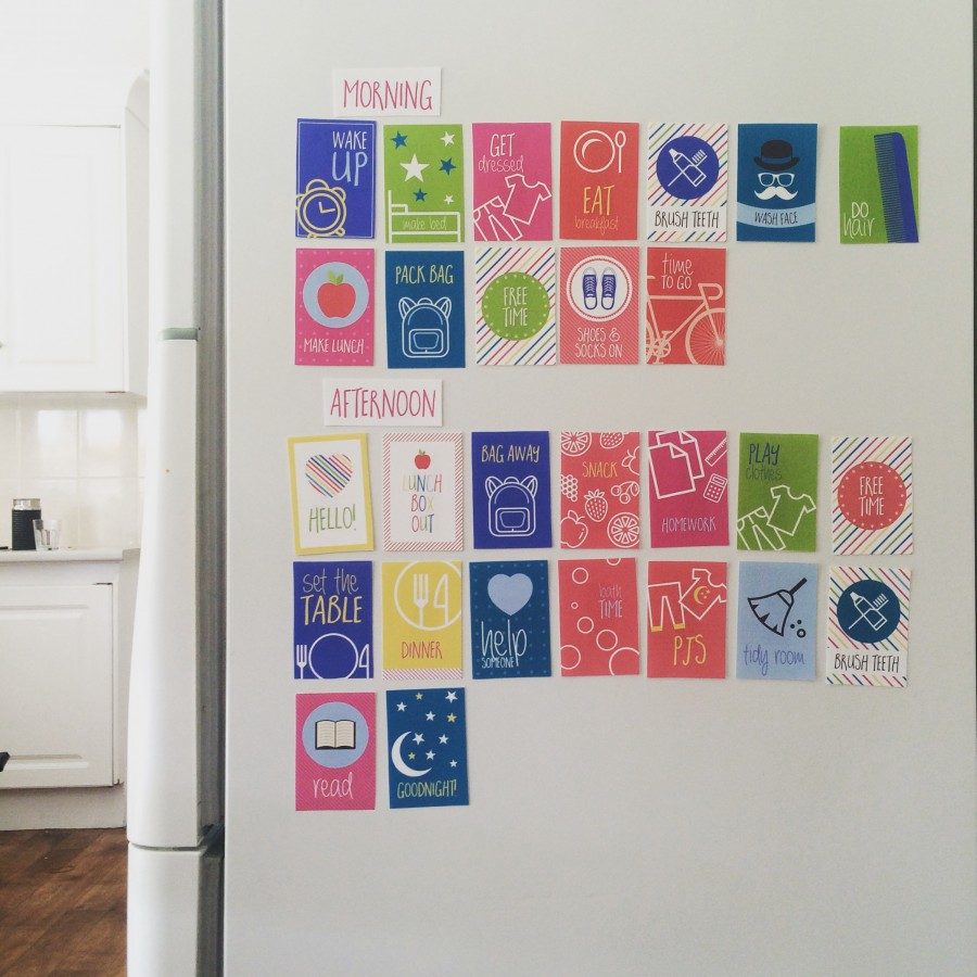 routine magnet printables