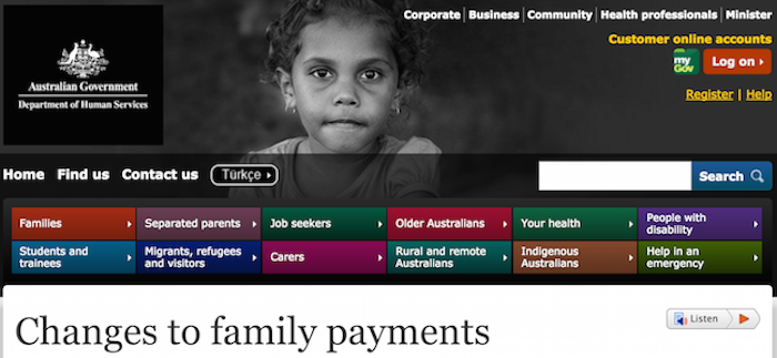 centrelink changes