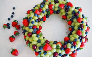 Edible Fruit Wreath Tutorial