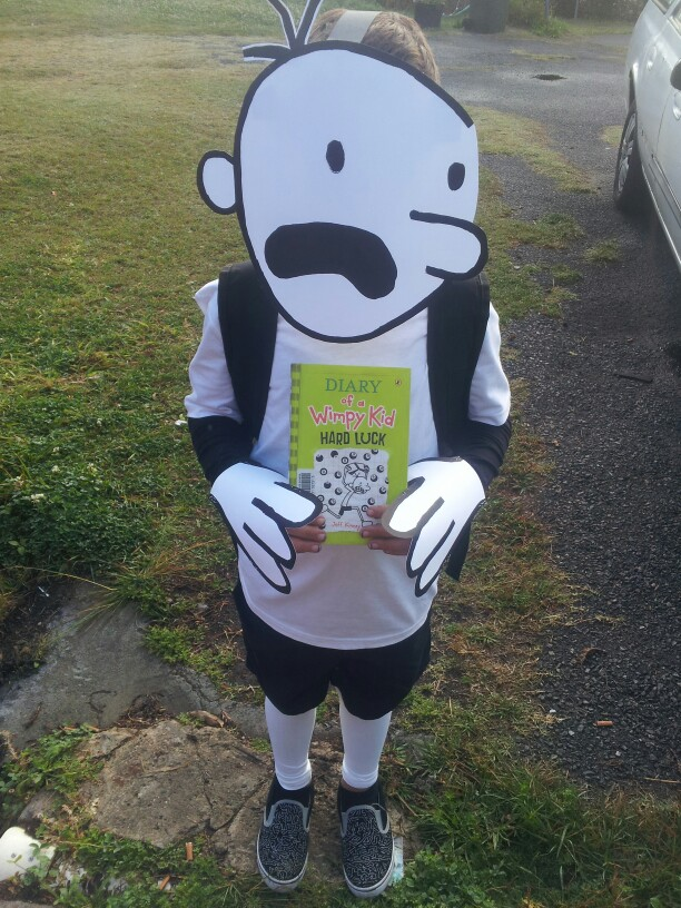 Easy book week costumes for boys keep calm get organised for Diary of a wimpy kid crafts