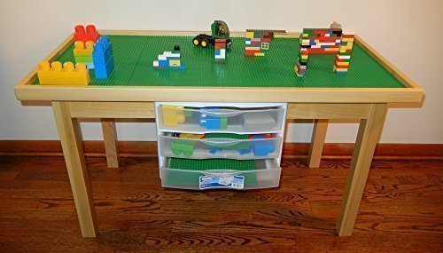 Huge Lego Table With Storage Drawers