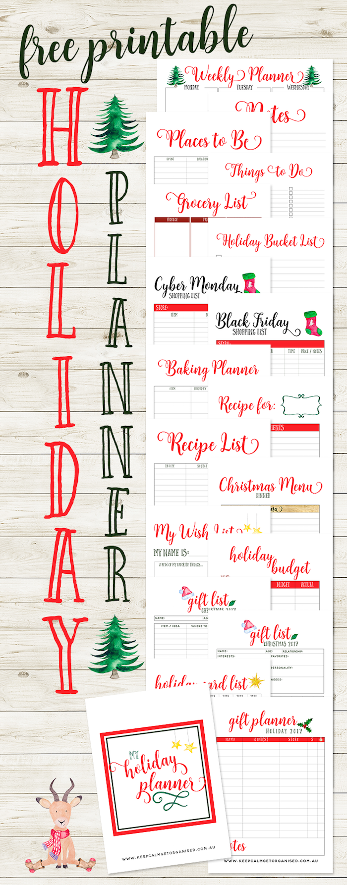 FREE Christmas Planner! 20+ Pages Of Lists & Planners
