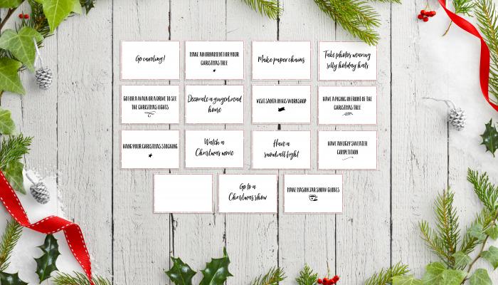 FREE Printable Activity Advent Calendar Cards